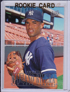 Details About Mariano Rivera Fleer Ultra Rookie Baseball Card New York Yankees Rc