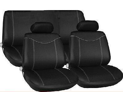 Black Full Car Seat Cover Protector set for Classic Mini A
