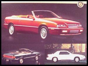 1995 chrysler lebaron convertible dealer sales brochure 95. Black Bedroom Furniture Sets. Home Design Ideas