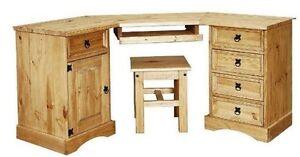 New-Corona-Pine-Computer-Corner-Table-Desk-Workstation-Office-Furniture-NEW