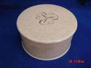 Vintage Ponds Powder Box Hard Plastic Pink Gold Glitter