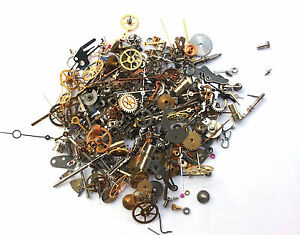 Vintage-antique-Steampunk-Watch-Parts-Pieces-TINY-gears-cogs-wheels-Lot-10g-300