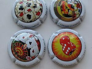 Serie-de-4-NOUV-capsules-de-champagne-Gerard-CLEMENT-jeux