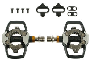 Shimano-XTR-2012-PD-M985-Trail-MTB-Bike-Pedals-NEW-Mountain-clipless-w-SPD-Cleat
