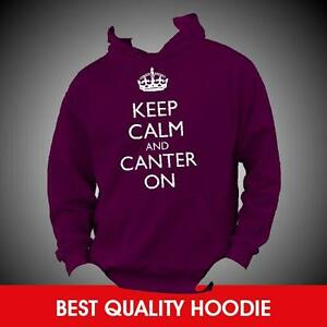 KEEP-CALM-AND-CANTER-ON-Horse-Riding-Hoodie-Hoody-Any-Colour-Size-TOP-QUALITY