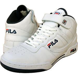 FILA-F-13-LTH-HI-TOP-RETRO-LEATHER-TRAINERS-basketball-boots-UK-6-amp-8-FREE-P-amp-P