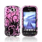 New HTC Mytouch 4g Slide Protective Hard Shield Case / Cover / Faceplates - Black Swirls Design On Purple Available For Purchase Today