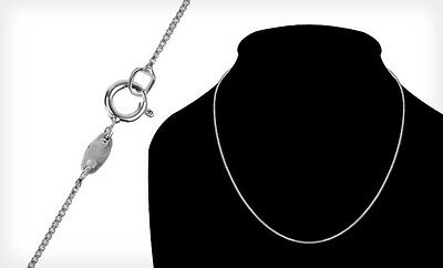 "Italian Sterling-Silver Platinum-Enhanced Necklaces - 18"" Length"