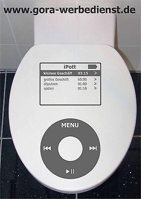 Toilettendeckel WC Sitz Klodeckel Klo Aufkleber mp3 player iPott-Aufkleber