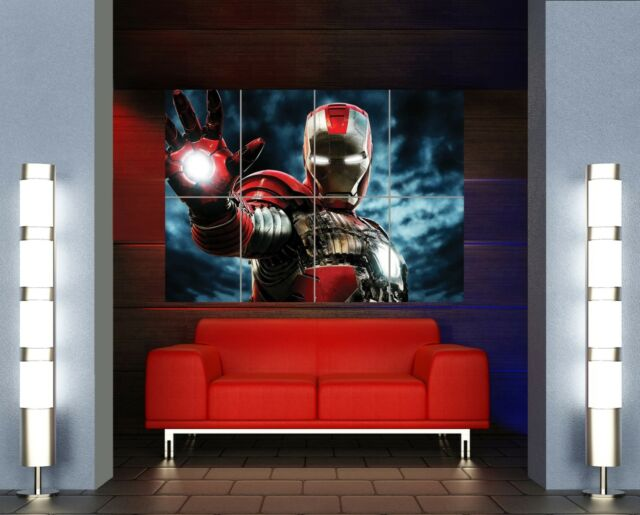 iron man 2 super hero giant wall art print picture poster mr326