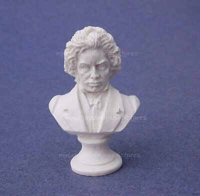 Miniature Dollhouse Beethoven Statue Bust 1:12 Scale New