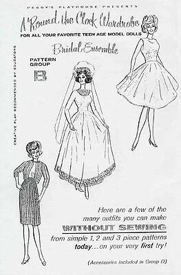 NO SEW BRIDAL ENSEMBLE BARBIE DOLL PATTERN (Group B)