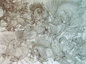 Guillaume-Azoulay-Onze-Chevaux-horse-2007-Signed-Numbered-Art-Etching-L-K
