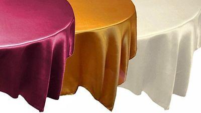 "12 pcs 72x72"" SATIN Table OVERLAYS - Wholesale Wedding Linens Party Decorations"