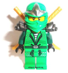 Lego-Ninjago-Lloyd-ZX-Minifigure-Green-Ninja-w-2-Gold-Swords-9450-NEW