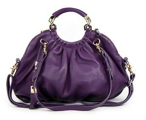 A8220-new-black-purple-Leather-women-handbag-purse-Bag-tote-hobo-shoulder-bag