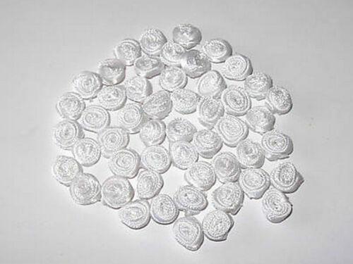 50 petits roulés ruban roses diverses couleurs 9MM large