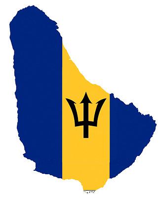 """Auto Aufkleber Barbados Sticker 11cm (4.3"""") Decal die-cut konturg."""
