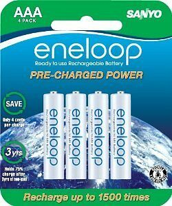 16 pcs Sanyo Eneloop AAA 800 mAh Rechargeable Batteries