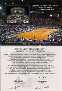 RUSSLAND-RUSSIA-2003-BLOCK-52-CERTIFICATE-TENNIS-DAVIS-CUP