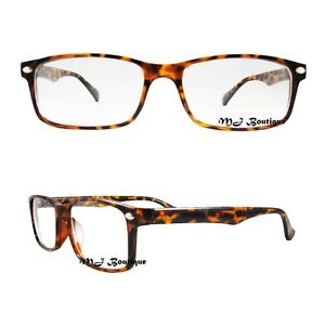 image is loading mj eyewear tortoise brown frame horn rimmed glasses