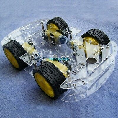 DC 3v 5V 6V 4WD Robot Smart Car Chassis Kits car with Speed Encoder for Arduino