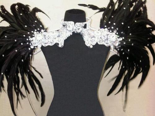 Showgirl Drag Queen Cabaret Burlesque Costume Feather Shoulder