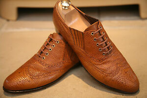 Rare-John-Lobb-Men-039-s-English-Handmade-Lizard-Skin-Shoes-Size-UK-7-RRP-6000
