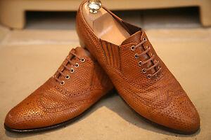Rare-John-Lobb-Mens-English-Handmade-Lizard-Skin-Shoes-Size-UK-7-RRP-6000