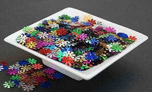 Flowers-Confetti-Sequins-Spangles-25g-Multi-Coloured
