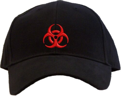 Biohazard Symbol Embroidered Baseball Cap Available in 7 Colors Hat