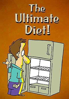 MAGNET Humor Funny Empty Refrigerator Man Ultimate Diet Door Open