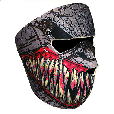 Motorcycle Bike Snowboard Ski Snow Snowmobile Face Mask Balacla Black Fang