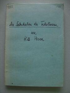 Die Fabrikation der Trikotwaren um 1920 Trikot Maschine - Eggenstein-Leopoldshafen, Deutschland - Die Fabrikation der Trikotwaren um 1920 Trikot Maschine - Eggenstein-Leopoldshafen, Deutschland