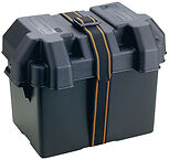 Group 24 Standard Size Plastic Battery Box with Strap for Marine Boats RV Truck