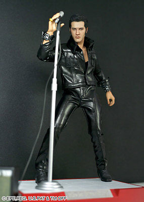 "1:6 ENTERBAY Kotobukiya Elvis Presley 1968 Come Back Special Version 12"" Figure"