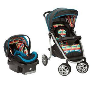 safety 1st sleekride lx baby stroller air car seat travel system tr199bkt ebay. Black Bedroom Furniture Sets. Home Design Ideas