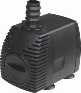 Fountain pump 520 gph 14 300 gph pond submersible koi for Best pond pump for koi