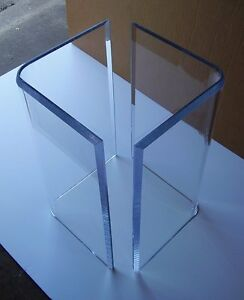 Acrylic v 39 s or boomerang dining table bases 2 clear for Acrylic vs glass windows
