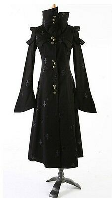 Y342 UNISEX visual kei classic punk goth rock long jacket blazer S to XL
