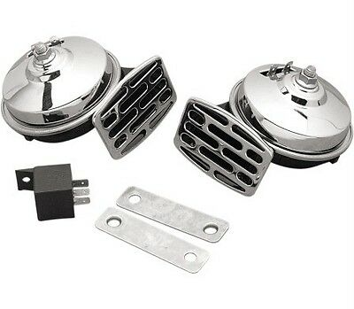 Motorcycle Horn Kit - Chrome - 107dB  Free USA SHIPPING