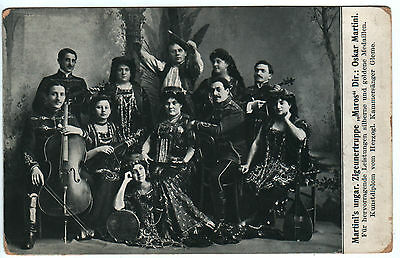 "Gypsy Music Troupe ""Maros"", in costumes, Germany, 1910s"