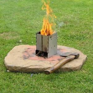 Portable Wood Burning Stove Pocket Folding Camp Stove Mini