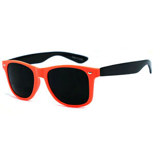 Retro-Square-Frame-Spring-Temple-Sunglasses-Orange-Black-WF-07