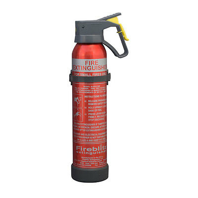 600g Car Fire Extinguisher for European Travel. Including plastic bracket. NEW