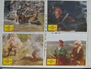 The-Mountain-Men-ORIGINAL-LOBBY-CARD-SET-Charlton-Heston-Brian-Keith-1980-NM-M