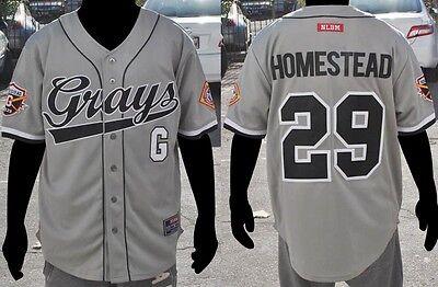 Negro League short sleeve Baseball Jersey M-5X  Grays Homestead NLBM