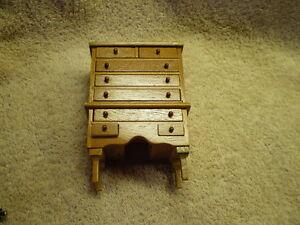 Miniature Highboy, 8 drawers, Vintage
