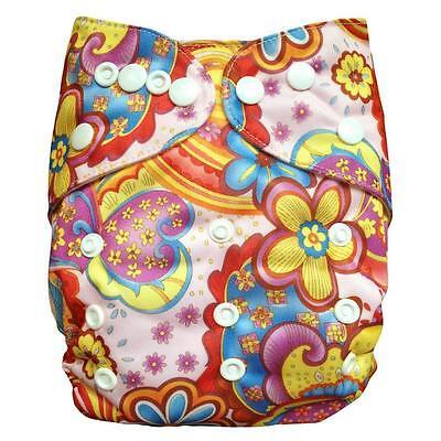 ALVABABY  Reusable Baby Cloth Diaper Washable Pocket Nappy +1 Insert