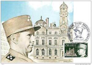 Général Diego Brosset Carte Postale Timbre premier jour (FDC) - France - Année d'émission: 1971 1975 - France